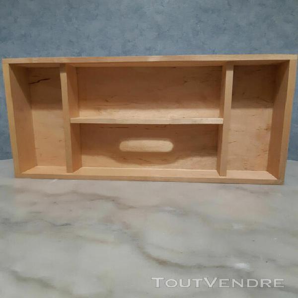 casier de rangement en bois avec poignee