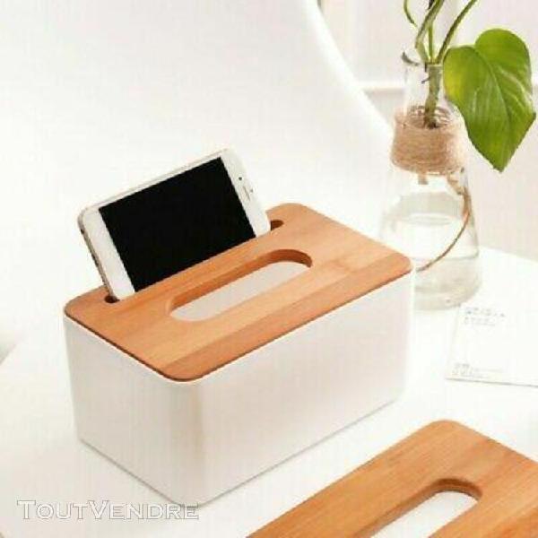 en bois boîte à mouchoirs dispenser cover paper storage