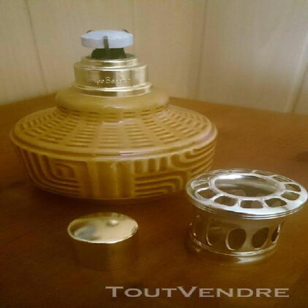 Lampe berger en faience - signee (e 48) - parfums d' inter