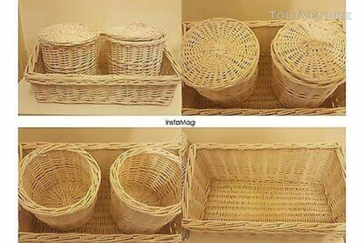 lot paniers en osier décoration home tbe (paiement chq)
