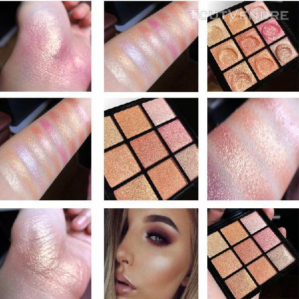 Nouveau poudre poudre maquillage professionnel couleur 9 col