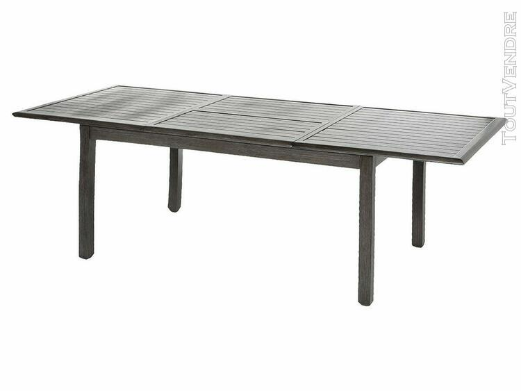 HESPERIDE Table extensible rectangulaire alu Piazza 1012