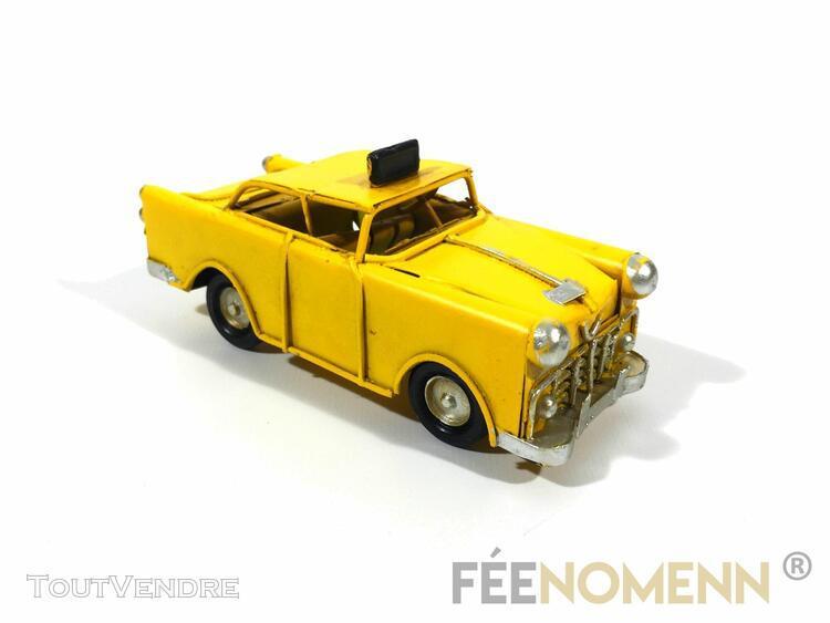 Voiture métal deco vintage - ancien taxi jaune new york