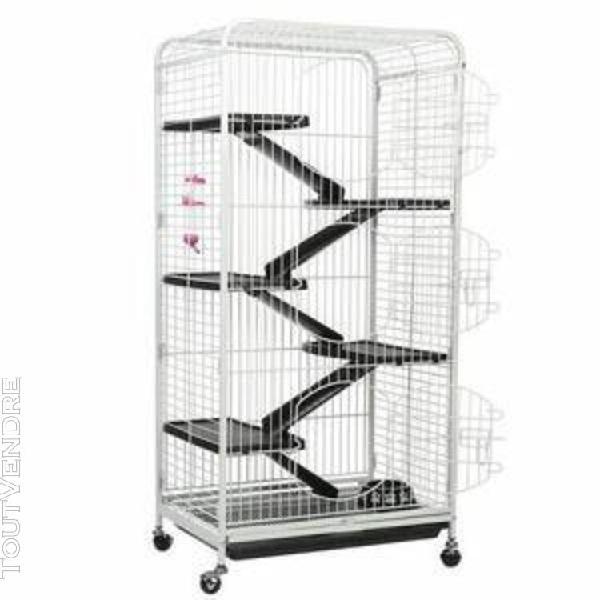 Cage de lapin 5 couches cochon d'inde cage blanc