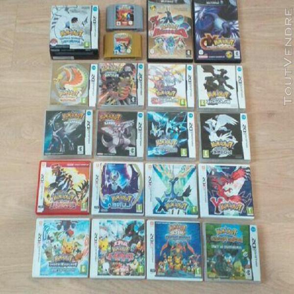 Lot de 23 jeux pokémon nintendo ds,3ds,gamecube,nintendo 64