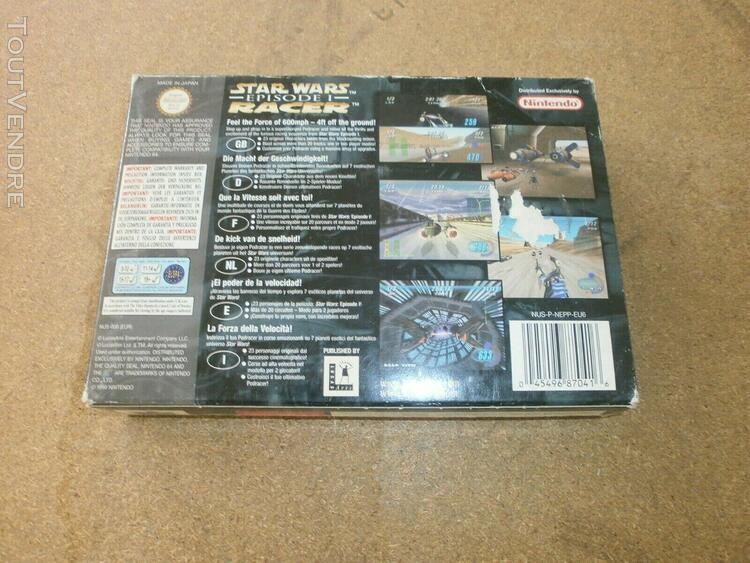 Star wars episode 1 racer, complet, boîte et notice