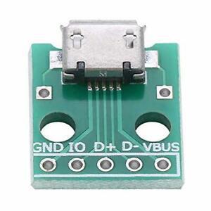 10pcs adaptateur usb vers dip micro usb breakout board