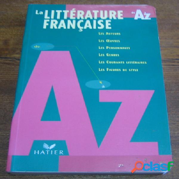 La littérature française de a à z