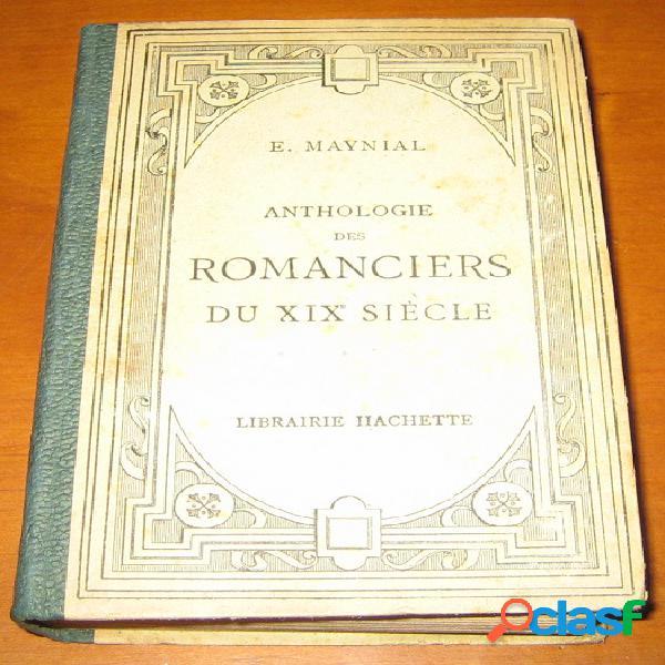 Anthologie des romanciers du xixe siècle, edouard maynial