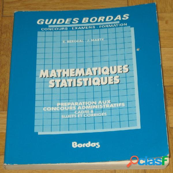 Mathématiques statistiques, préparation aux concours administratifs