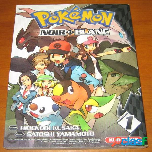 Pokémon noir et blanc n°1, hidenori kusaka et satoshi yamamoto