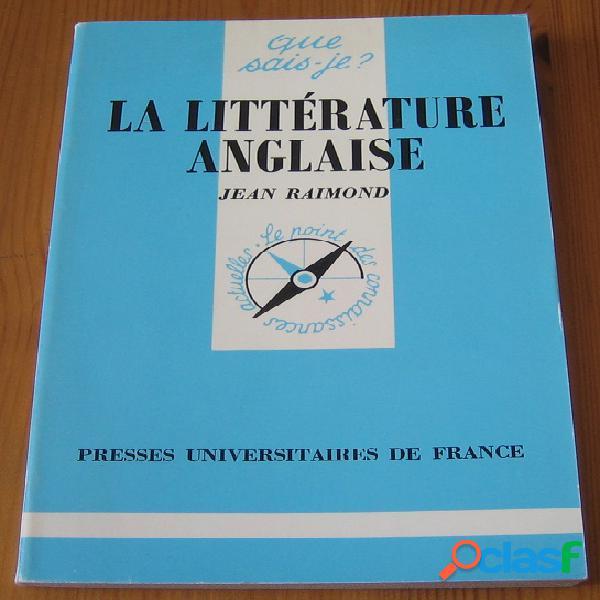 La littérature anglaise, Jean Raimond