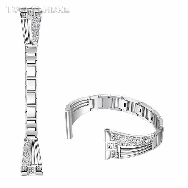 Facile à régler en cristal métal montre bracelet bande