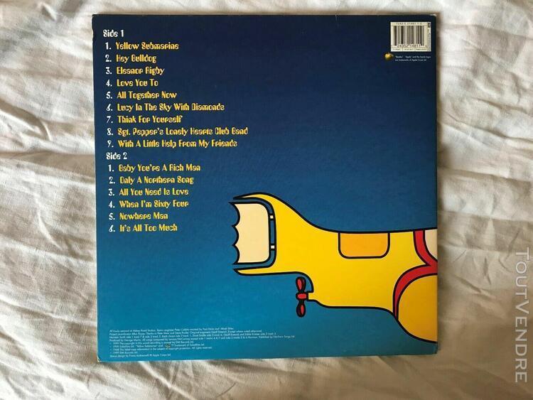 Beatles yellow submarine lp jaune