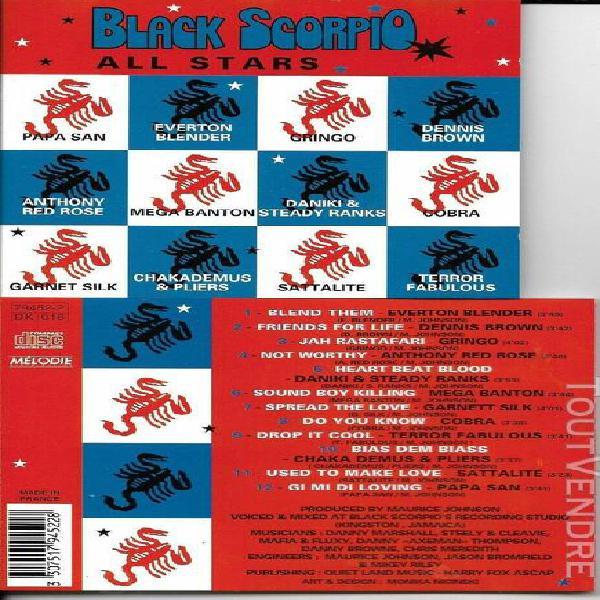 Cd 12t black scorpio all stars papa san/cobra/everton blende