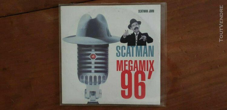 Cd 2 titres de john scatman - megamix 96' ***cd rare***