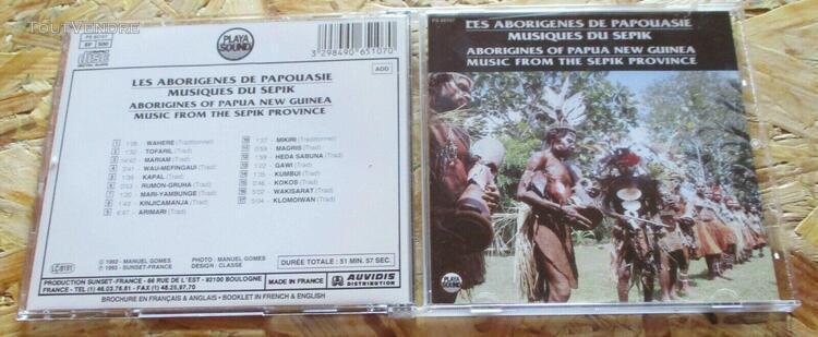Cd les aborigenes de papouasie - musiques du sepik