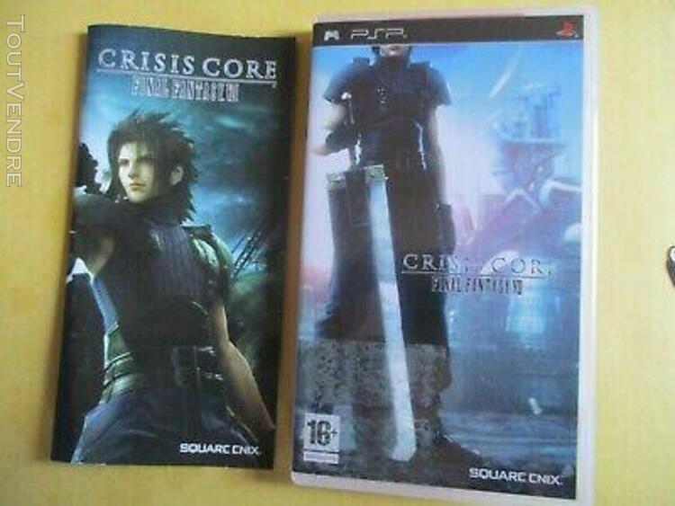 Crisis core final fantasy vii jeu psp complet de sa notice