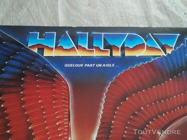 Disque vinyl 33t: johnny hallyday:quelque part un aigle-198