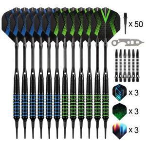 grebarley flechette pointe plastique, 12 fléchettes avec 9