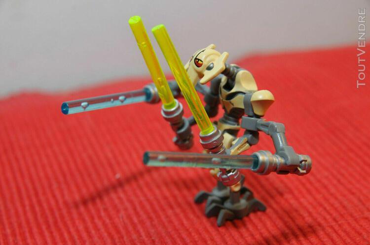 lego star wars - minifig general grievous & 4 sabres - sw025