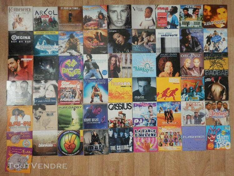Lot 112 cd 2 titres + 43 cd (tina turner, elton john, madonn