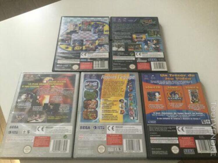 Lot 5 jeux sonic nintendo gamecube
