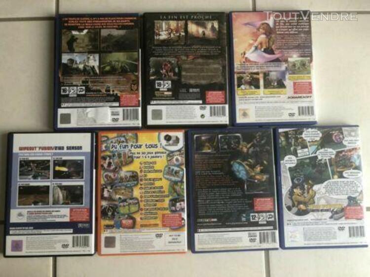 Lot 7 jeux ps2 / killzone, final fantasy, god of war... / co