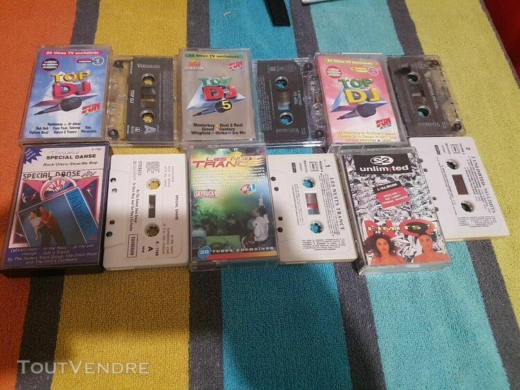 Lot de cassettes dance compilation des année 90 k7