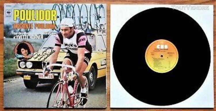 Lp 1977 dédicacé (vélo) raymond poulidor - cbs n° cbs