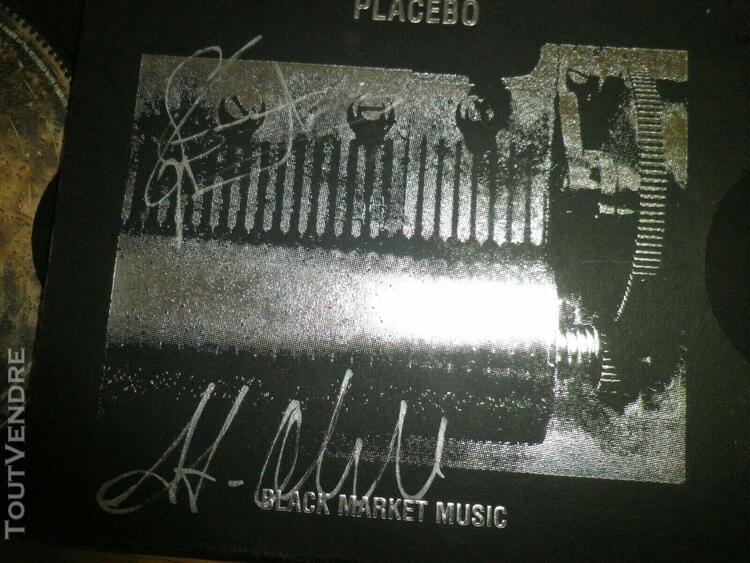 Placebo - black marked signed by stefan & steve mega rare pr