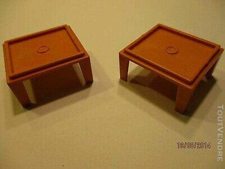 Playmobil lot accessoires 2 table basse pour maison