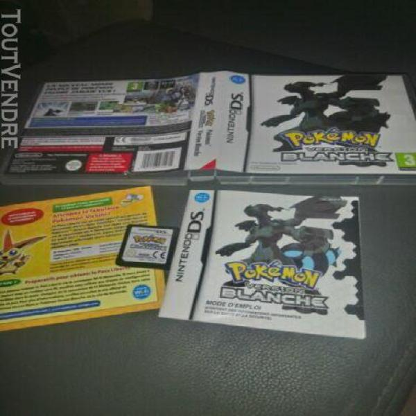 Pokemon version blanche pal fr nintendo ds. complet