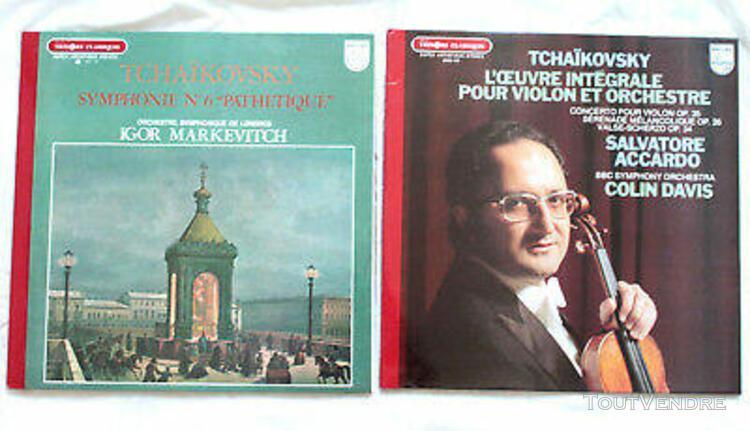 Tchaikovsky integrale violon vinyle 33 t lp 2 disques casi n