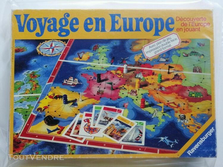 Voyage en europe ravensburger complet jeu de société