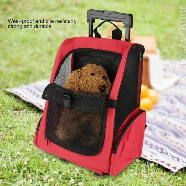 Animaux sac de transport portable compagnie roulettes à dos