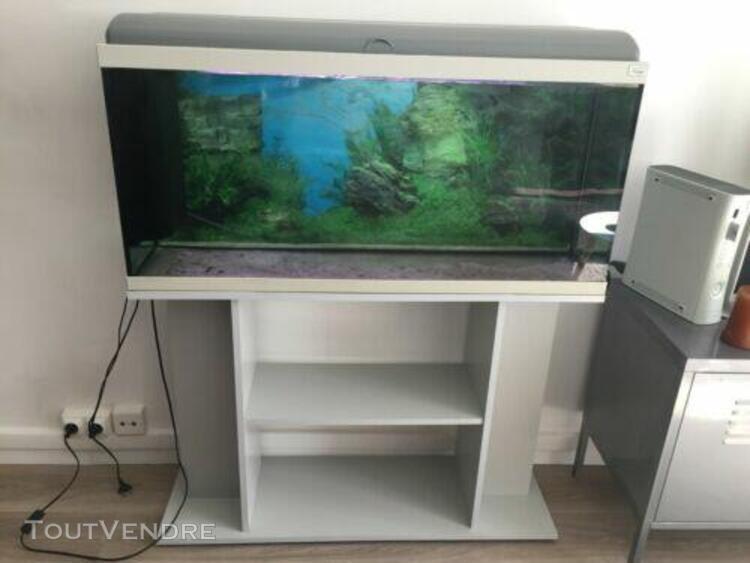 Aquarium complet de 140 l pour poissons exotiques et son meu