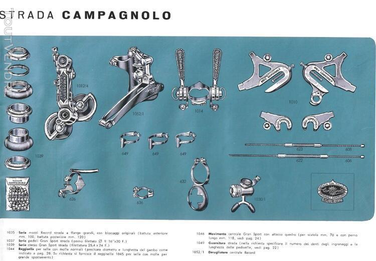 Super Record Catalog collection  1951 to 2019 Campagnolo C-Record