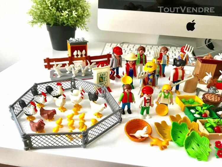 Grand lot animaux & personnages de la ferme playmobil ang78