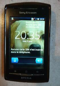 Téléphone noir sony ericsson xperia e15i pour pièce +