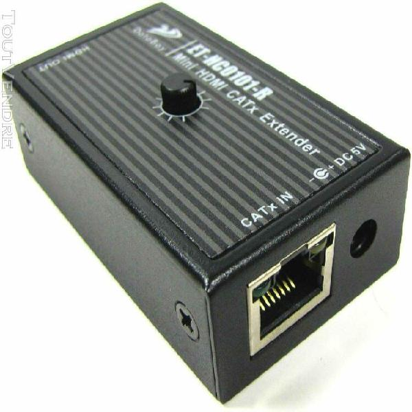 Databay mini hdmi catx extender et-hc0101-r et et-hc0101-t
