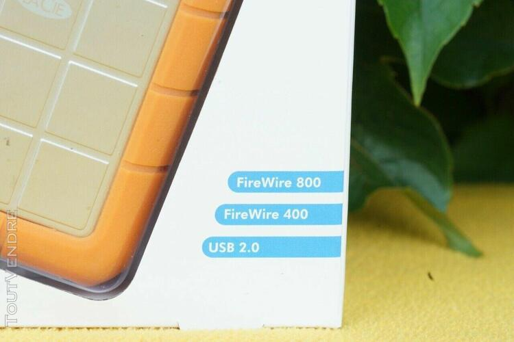 Disque dur externe lacie rugged 1to - usb 2.0, firewire 400,