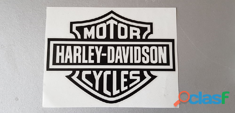Autocollant bar and shield harley davidson 20x15 cm Envoi possible