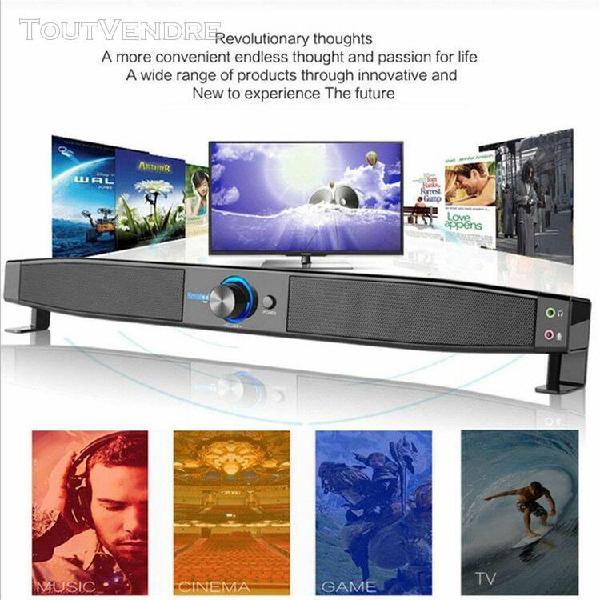 Bt wireless tv soundbar 4 haut-parleur 3d sound bar home cin