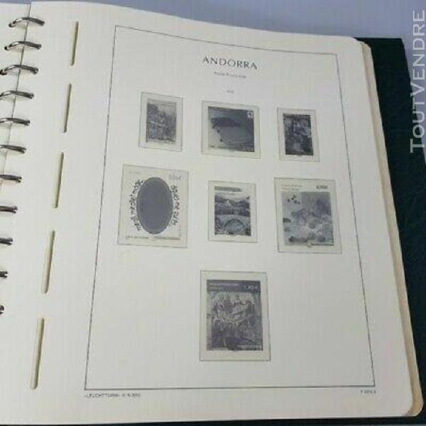 Album leuchtturm feuilles timbres andorre 2001-2016 et taaf