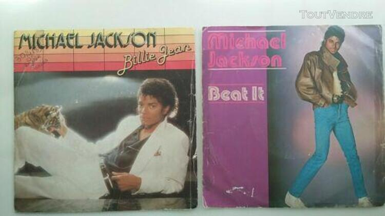 "Lot 2 disques 7"" sp 45 tours, michael jackson - billie jean"