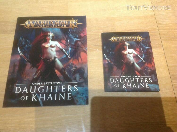 Lot daughters of khaine, battletome pions et cartes vf
