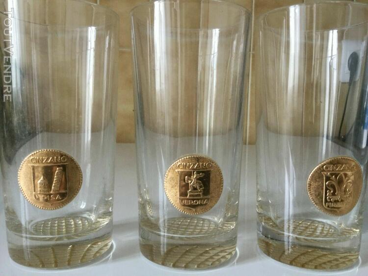 Lot de trois verres collector cinzano