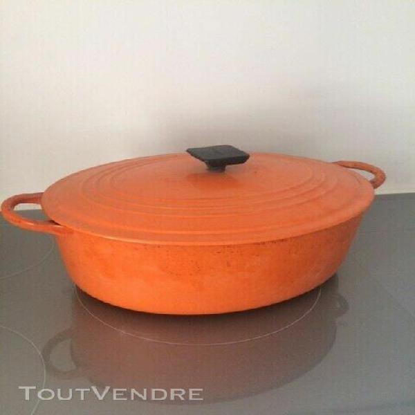 """Le creuset cocotte en fonte ovale orange modèle """"f"""" (31cm)"""