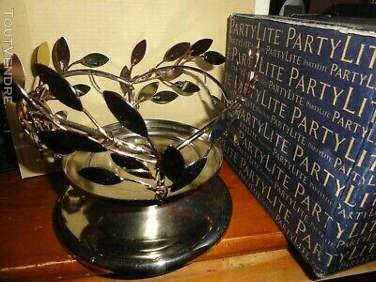 Porte pot a bougies feuilles chatoyantes partylite